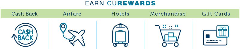 Earn CURewards for Airfare, Hotel, Cash Back, and More