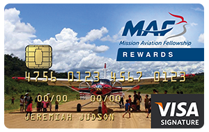 MAF Mission Aviation Fellowship Visa Card