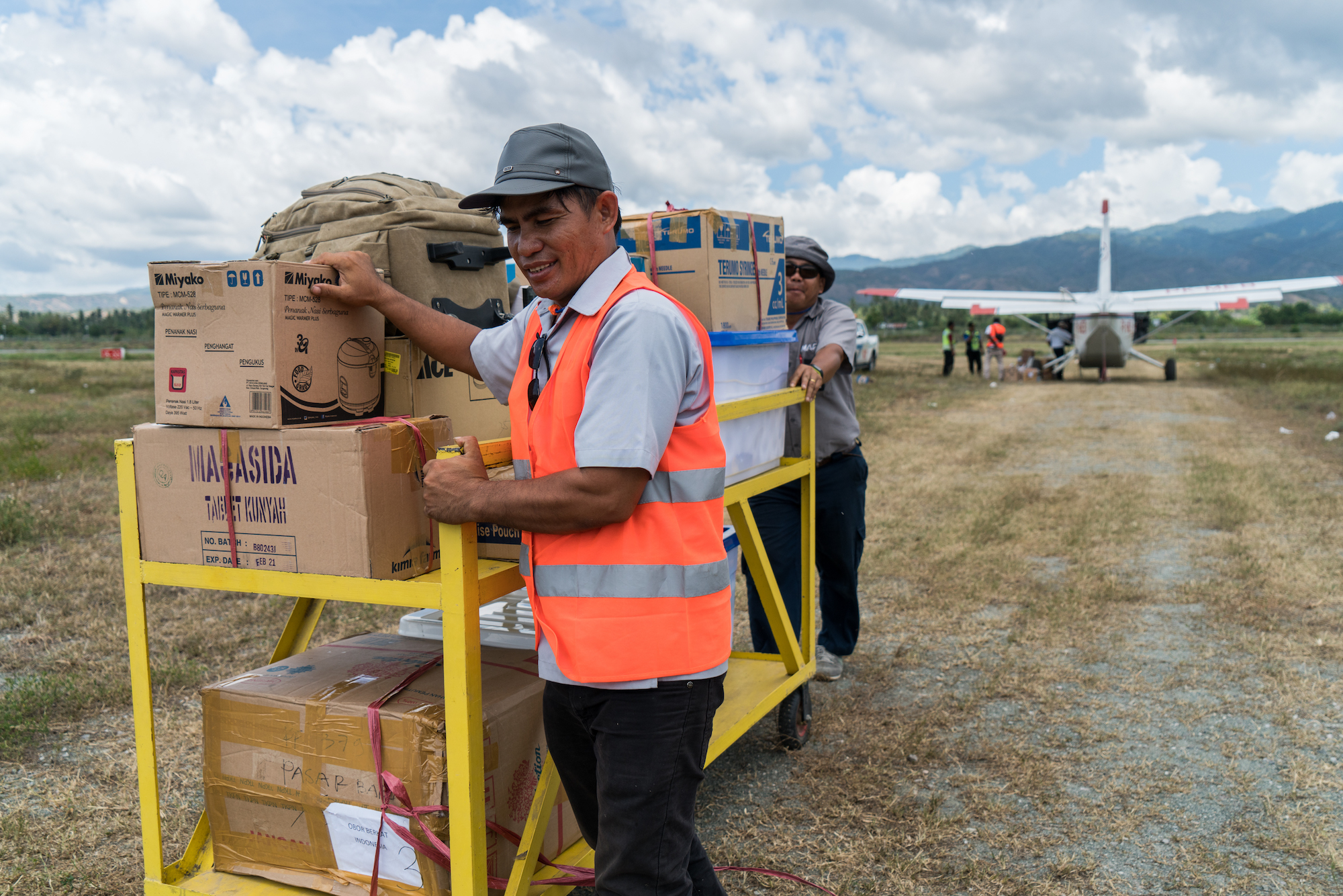 Christian Community Credit Union's $5,000 donation to Mission Aviation Fellowship's helped transport medical supplies to teams holding health clinics for people displaced by the earthquake in Palu, Indonesia.