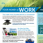 Your Money at Work Newsletter Fall 2018